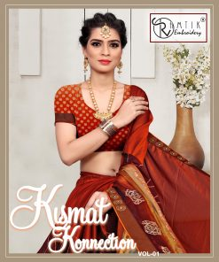 Kismat Konnection Vol 1 Sarees (8 Pcs Catalog)