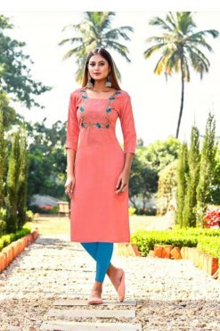 Buy Dinnar Wholesale Kurtis - 10 Pcs Catalog
