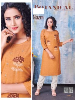 Buy Nazm Kurti Pant Wholesale Set - 8 Pcs Catalog