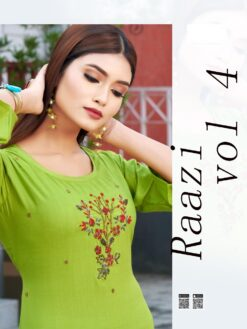 Buy Raazi Vol 4 Wholesale Kurtis - 10 Pcs Catalog