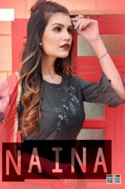 Naina Kurtis with Dupatta - 8 Pcs Catalog