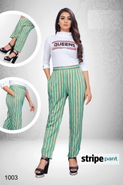 Striped Rayon Pants - 4 PCs Catalog