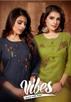 Vibes Kurtis Catalog With Pant (6 Pcs Catalog)