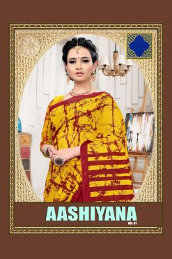 Aashiyana Pure Cotton Sarees - 15 Pcs Catalog
