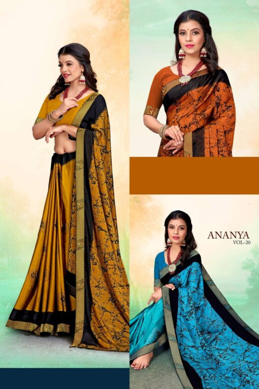 Ananya vol 20 Sarees - 8 Pcs Catalog