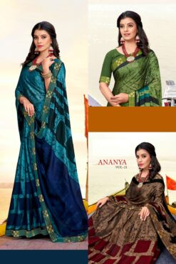 Ananya vol 21 Sarees - 8 Pcs Catalog