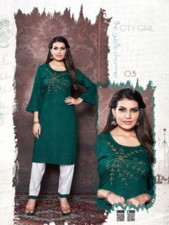 City Girl Kurti Pant - 8 Pcs Catalog