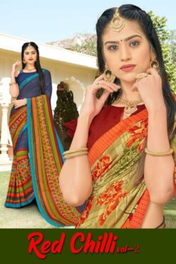 Red chilli vol 2 Sarees - 8 Pcs Catalog