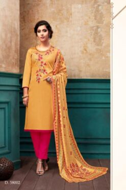 Kesari Wholesale Dress Materials - 7 Pcs Catalog